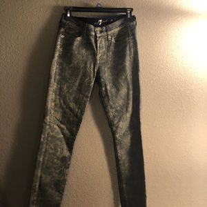 Jeans  dark wash and gold